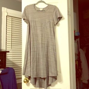 Grey heathered LuLaRoe Carly- high low dress